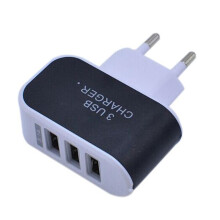 BESSKY 3.1A Triple USB Port Wall Home Travel AC Charger Adapter For S6 EU Plug _