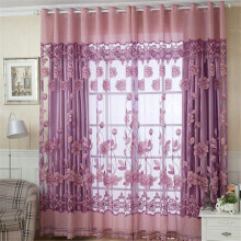 BESSKY 250cmx100cm Print Floral Voile Door Curtain Window Room Curtain Divider Scarf _