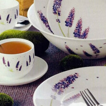 LUMINARC Essence Lavender Dinner set 19 pcs J2970
