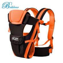 Bethbear Adjustable Buckle Mesh Wrap Baby Carrier Backpack-Orange