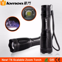 Lomon Zoomable LED Flashlight XM-L Cree T6 Tactical Camping Light 18650 Battery Rechargeable Torch + Charger Zoom Flash Light Lantern