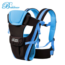 Bethbear Adjustable Buckle Mesh Wrap Baby Carrier Backpac-Blue
