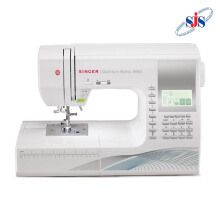 SINGER 9960 Quantum Stylist Mesin Jahit Computerised Portable - Putih