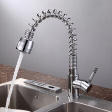 LANGFAN J6512 Hot And Cold Water Pull Out Kitchen Single Holder Single Hole Faucet