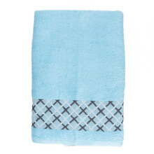 JOYHOME Bath Towel Double Cross Motif Baby Blue - 360g - 70 x 135 cm