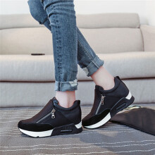 BESSKY Women Fashion Sneakers Sports Running Hiking Thick Bottom Platform Shoes _