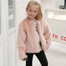 BESSKY Kids Baby Girls Autumn Winter Faux Fur Coat Jacket Thick Warm Outwear Clothes_