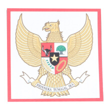 Tactical Series Velcro Patch 9 x 9 cm - Garuda Pancasila - White Red