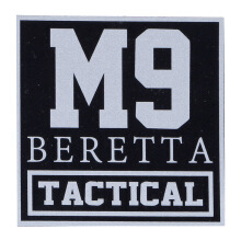 Tactical Series Velcro Patch 9 x 9 cm - M9 Beretta Tactical - Black Silver
