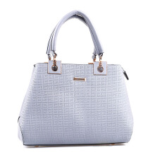 HUER Quella 3 Spaces Handbag - Grey [One Size]
