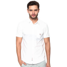 3SECOND Patch Tricoloured Basic Shirt - White