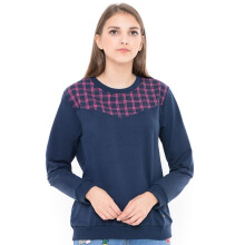 MOUTLEY Check Top Jacket - Blue
