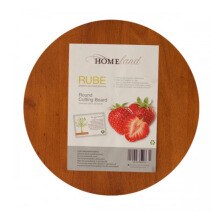 HOMELAND Rube Round Cutting Board  - Brown