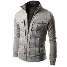 BESSKY TOP Fashion Mens Slim Designed Lapel Cardigan Coat Jacket-