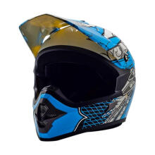 Cargloss MXC AJR Blue Helm Motocross - Super W White