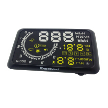 Excelvan Car HUD Universal Car Interface HUD Fuel icon Head-Up Display Black