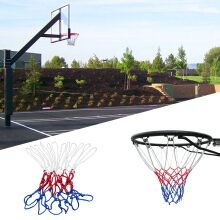 New Red White Blue Basketball Net Nylon Hoop Goal Rim Mesh Net Sports