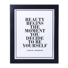 BLOOM & BLOSSOM Beauty Begins Poster with Frame 25x30cm