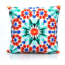 VIVERE Cushion Cover Morrocan Star - Orange & Blue / 45X45cm