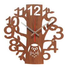 NAIL YOUR ART Owl Wall Clock/32x32Cm