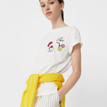 MANGO Patch T-shirt - White
