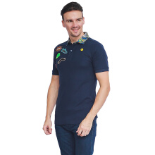 ALINSKIE BROTHERS Badges Mens Polo Shirt Azura A1010 - Navy