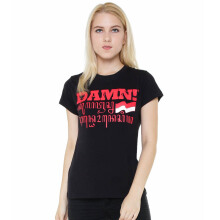 DAMN! I LOVE INDONESIA Tee Female Sansakerta - Black