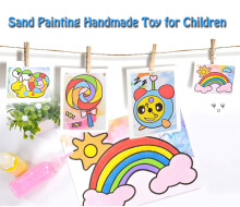 Bottled Colorful Sand Painting Handmade Toy for Children