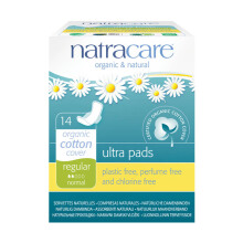 NATRACARE Ultra Pads Regular with Wings 14's