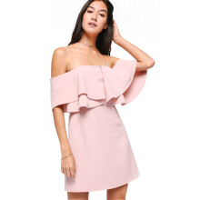 LOVE, BONITO Theora Off Shoulder Dress - Pink