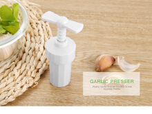 Garlic Presser Crusher Screw Squeeze Peeler Kitchen Gadget Tool
