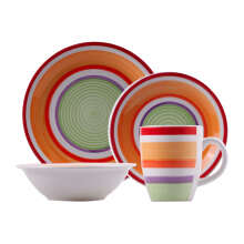 NAKAMI Dinner Set Red Dominan 2603-R - 16PCS