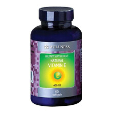 WELLNESS Natural Vitamin E-400 I.U 150 Softgels