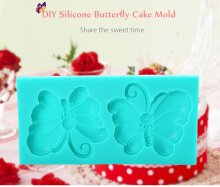 DIY Silicone Butterfly Fondant Cake Mold Decorating Tool