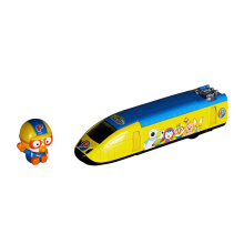 PORORO Pullback Diecast Train - Yellow-Orange