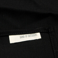 B.O OUTSIDERS Band Of Outsiders 12 X 12 Pocket Square Black Pique Os - Black OS [BOO-SS14-BM9M05603033-BLK-OS]