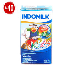 INDOMILK Kids Vanila UHT Carton 115ml x 40pcs