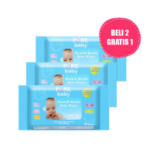 PURE BABY Hand & Mouth Baby Wipes Aloe Vera Combo (2+1) 10's