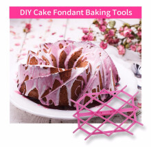 DIY Cup Cake Fondant Baking Tools Paste Decorating Kit PLUM RHOMBUS PATTERN