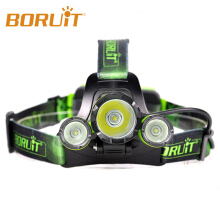 BORUIT RJ-5000 Plus B22 Rechargeable Zoom XM-L2+2X XPE SOS Whistling LED Hunting Headlamp Micro USB Headlight Torch Hiking Green