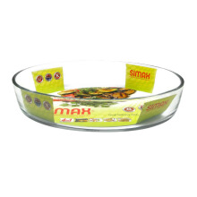 SIMAX Cookware Glass Oval Baking Dish / Mangkuk Oven 3L - 7126