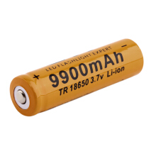 TR 18650 3.7V 9900mAh Rechargeable Li-ion Battery for LED Flashlight Red