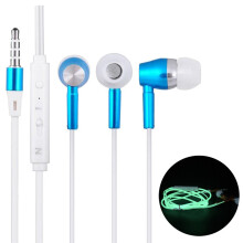 BESSKY 3.5mm In ear Stereo Luminous Headphone Headset Super Bass Music Earphone Earbuds_