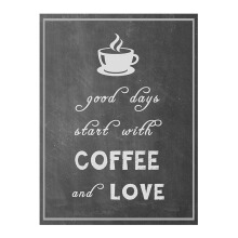 NAIL YOUR ART Coffee & Love Wall Sign Gantungan Dinding/32x24Cm