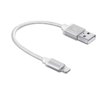 Innergie MagiCable USB To Lightning Braided 15 Cm Charge And Sync Apple Iphone Ipad - White