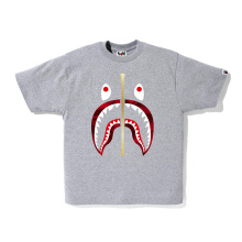A BATHING APE Color Camo Shark Tee - Grey [L] 0ZX TE M110025 8 GYP