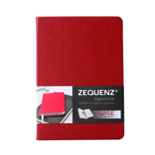 ZEQUENZ Notebook Hard Cover A5(L) WSJN001R - Red
