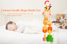 Bedtime Bear Cartoon Animal Giraffe Shape Hanging Bed Bell