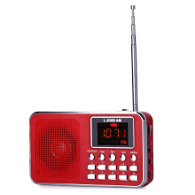 L - 938B Mini Digital Media Speaker with FM Radio USB TF Slot LED Display