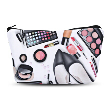 3D Cosmetics Print Clutch Makeup Bag